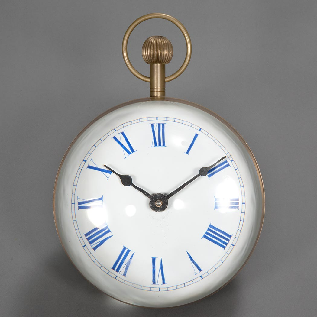 Lot image - Brass and Glass Ball Clock