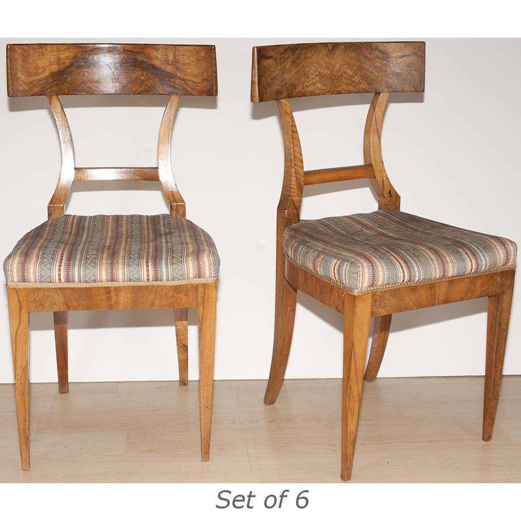 Set Of Six Biedermeier Style Burl Wood Dining Chairs For Sale At Auction On Wed 10 10 2012 07 00 N A Doyle Auction House