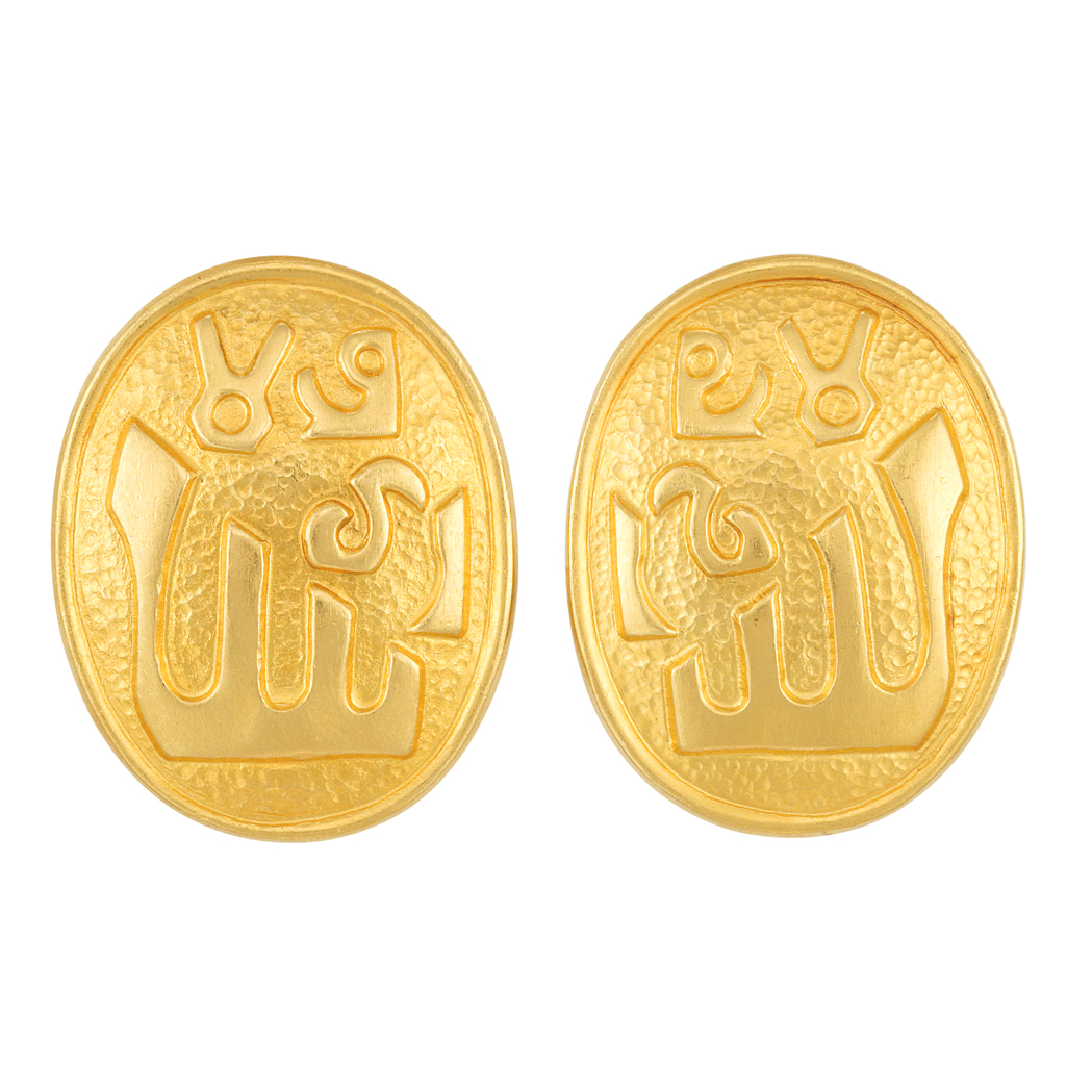 Lot image - Pair of Gold Earrings, Ilias Lalaounis