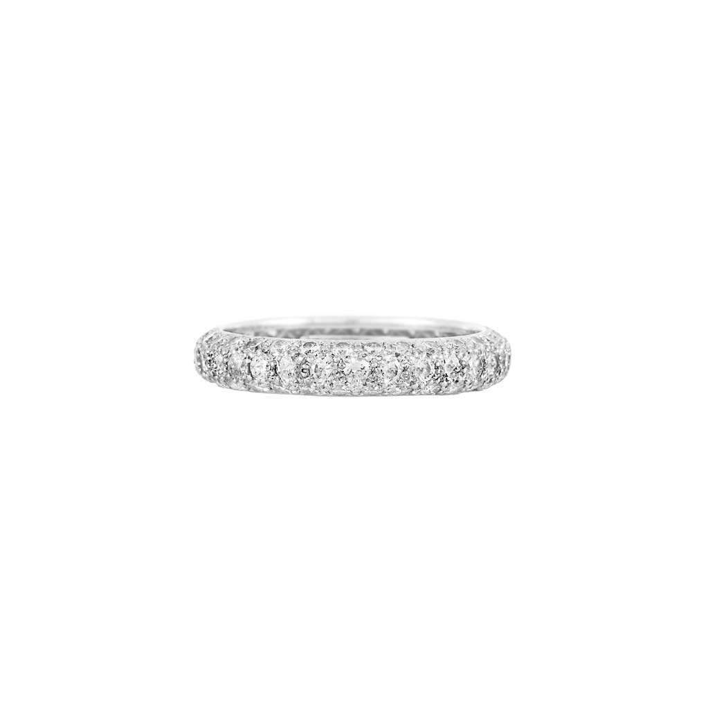 Lot image - Platinum and Diamond Band Ring, Tiffany & Co.