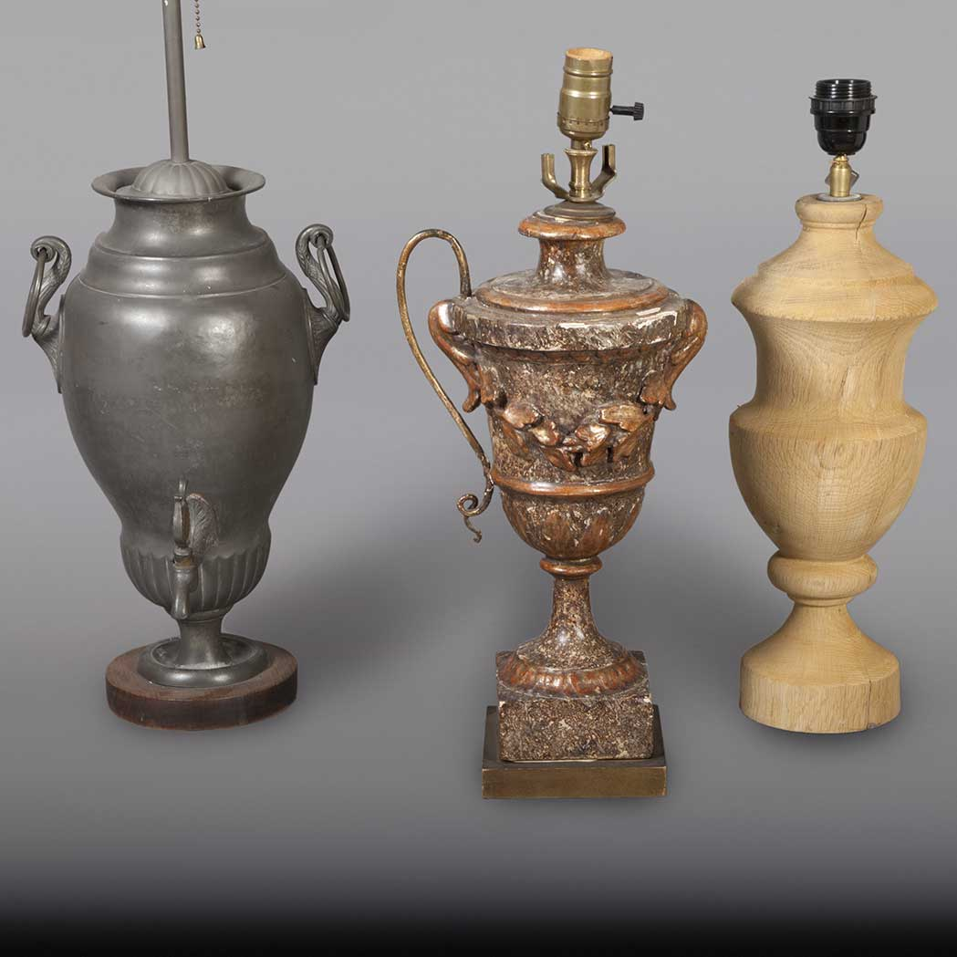 Lot image - Miscellaneous Group of Three Lamps
