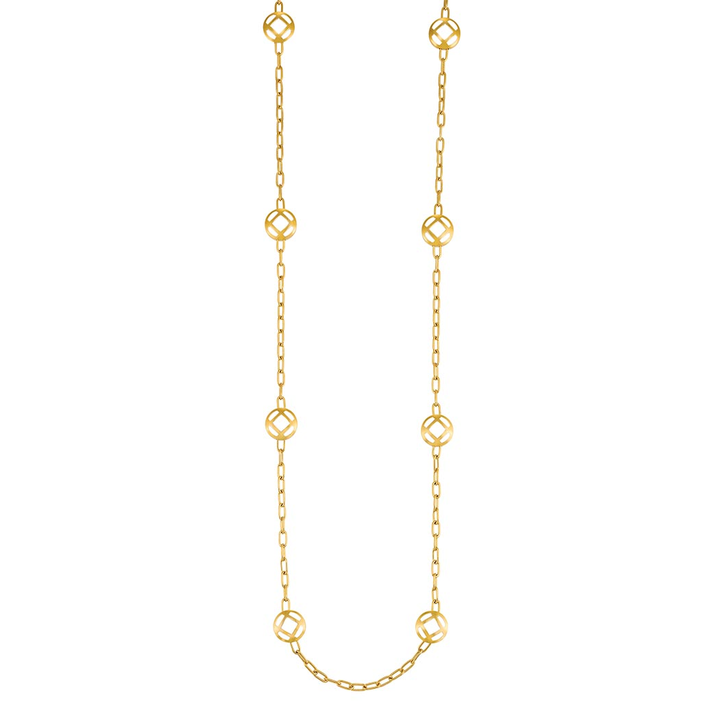 Lot image - Long Gold Chain Necklace, Cartier
