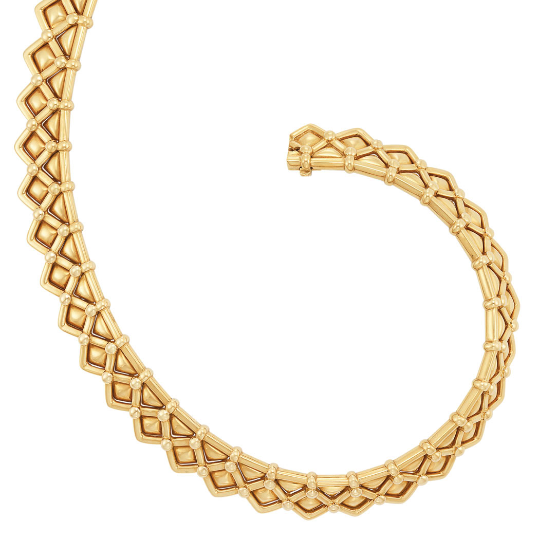 Lot image - Gold Necklace, Mauboussin, Paris