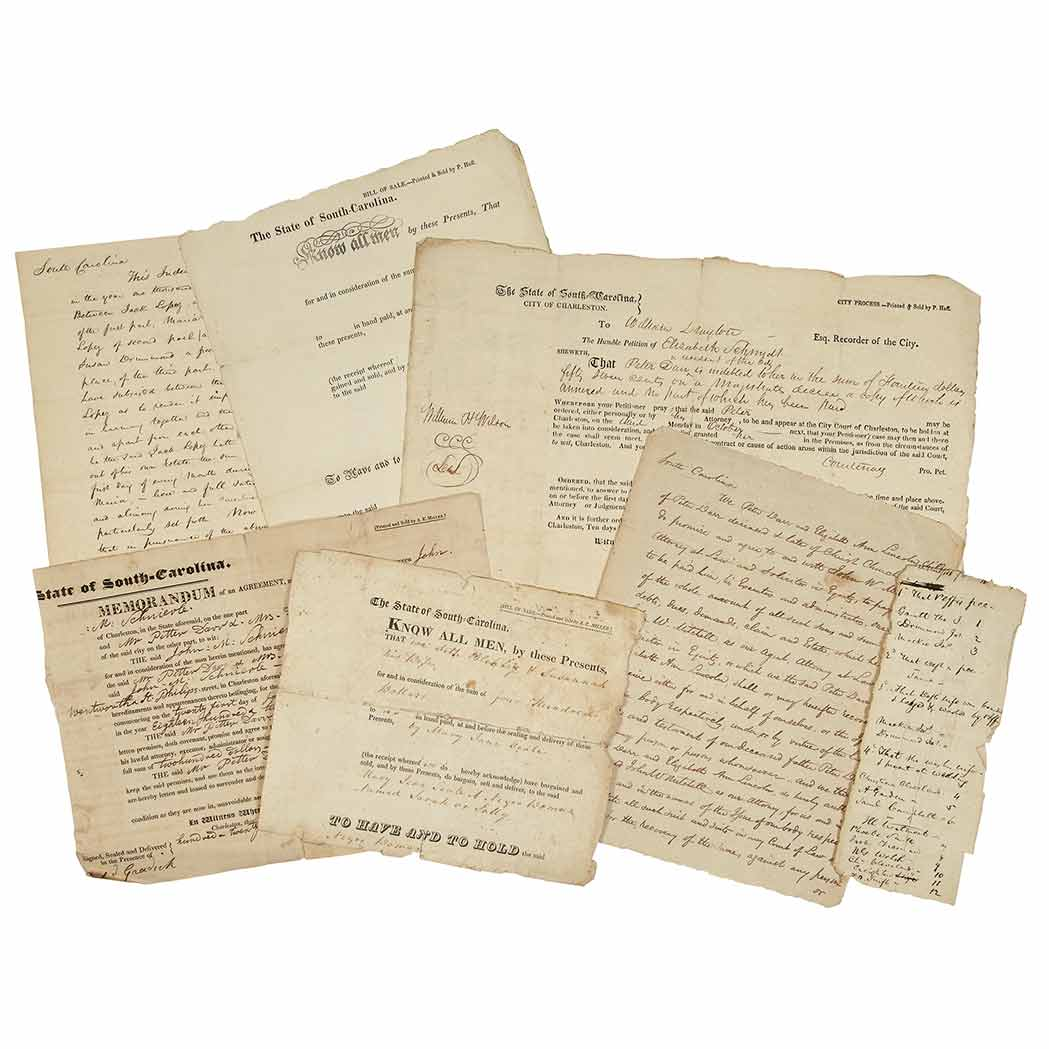 Lot image - [LAW & COMMERCE]  An extensive archive of correspondence and documents relating to the national enterprises of powerful New York entrepreneur Timothy Green, his son, and future partner John W. Mitchell