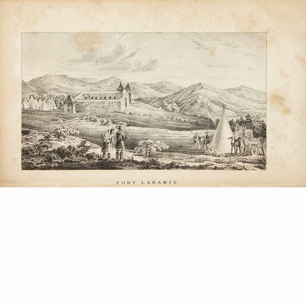Lot image - [EXPLORATION]  FREMONT, JOHN CHARLES.  Report of the Exploring Expedition to the Rocky Mountains in the year 1842, and to Oregon and North California in the years 1843-44