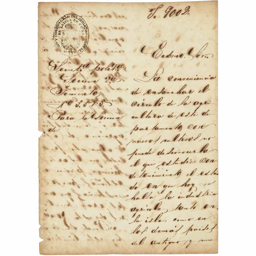 Lot image - [CUBA--COCOA]  Three documents on the cultivation and production of cocoa in Cuba
