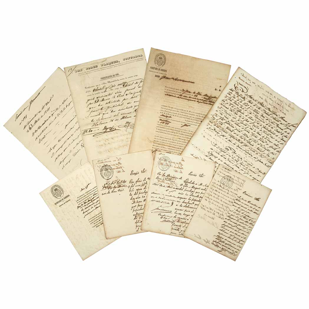 Lot image - [CUBA--SUGAR]  Group of documents issued by various government bodies, relating to the cane sugar industry of Cuba