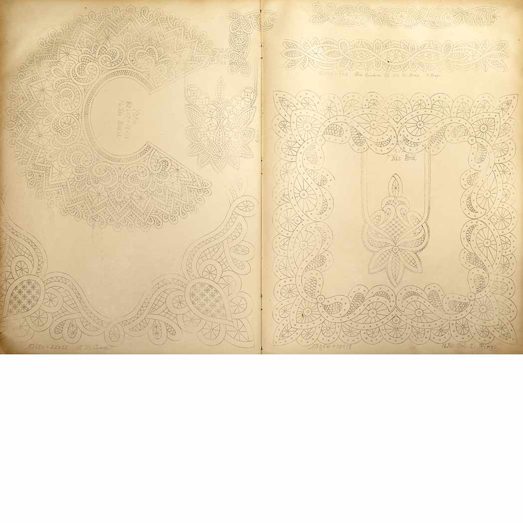 Lot image - [LACE - AMERICAN]  Group of two American lace pattern books