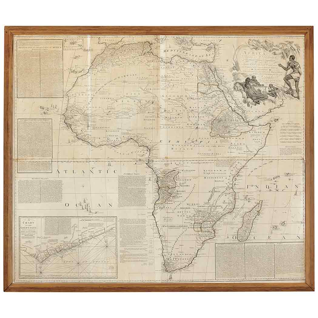 Lot image - [MAPS - AFRICA]  ANVILLE, JEAN BAPTISTE BOURGUIGNON DE. Africa ...with a particular Chart of the Gold Coast, wherein are distinguished all the European Forts, Factories ...