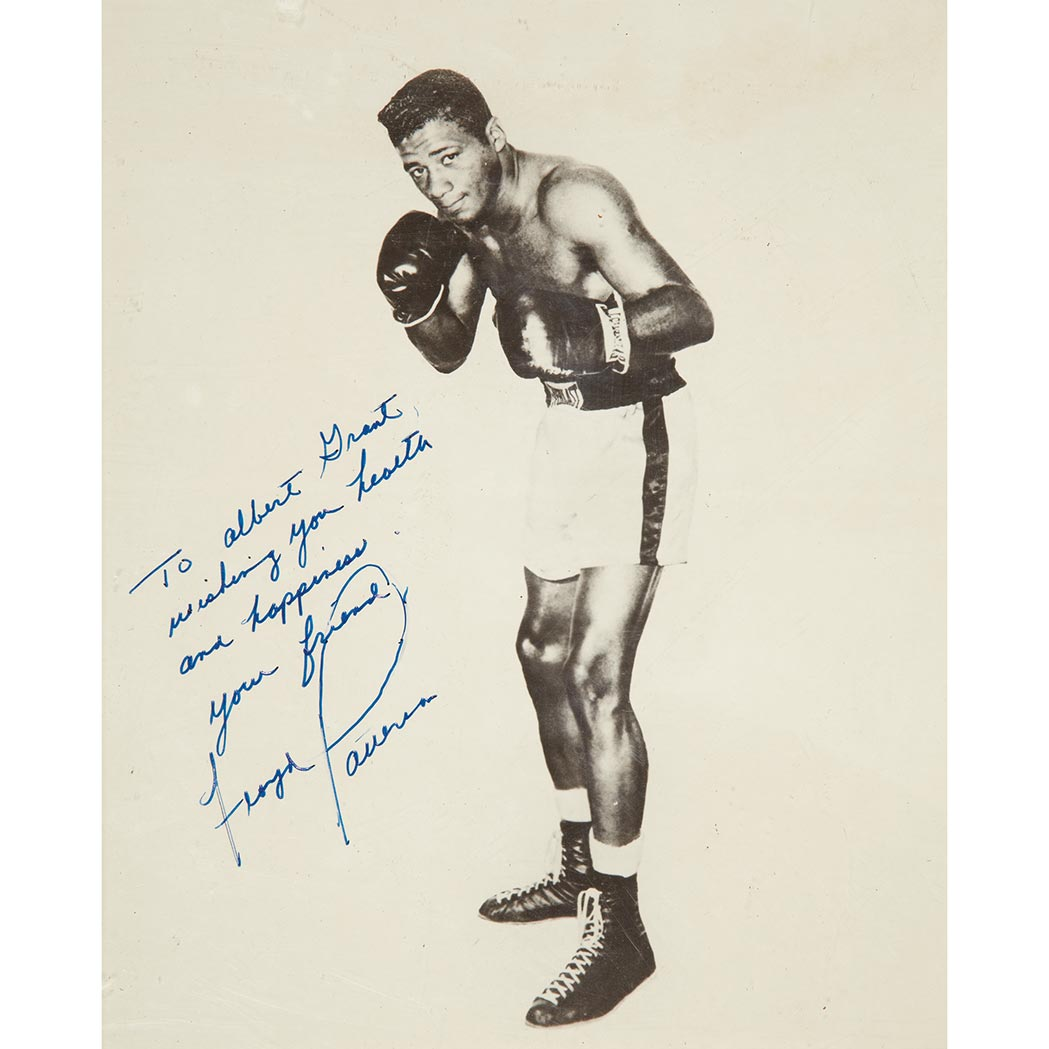 Lot image - [BOXING]  PATTERSON, FLOYD. Inscribed photograph