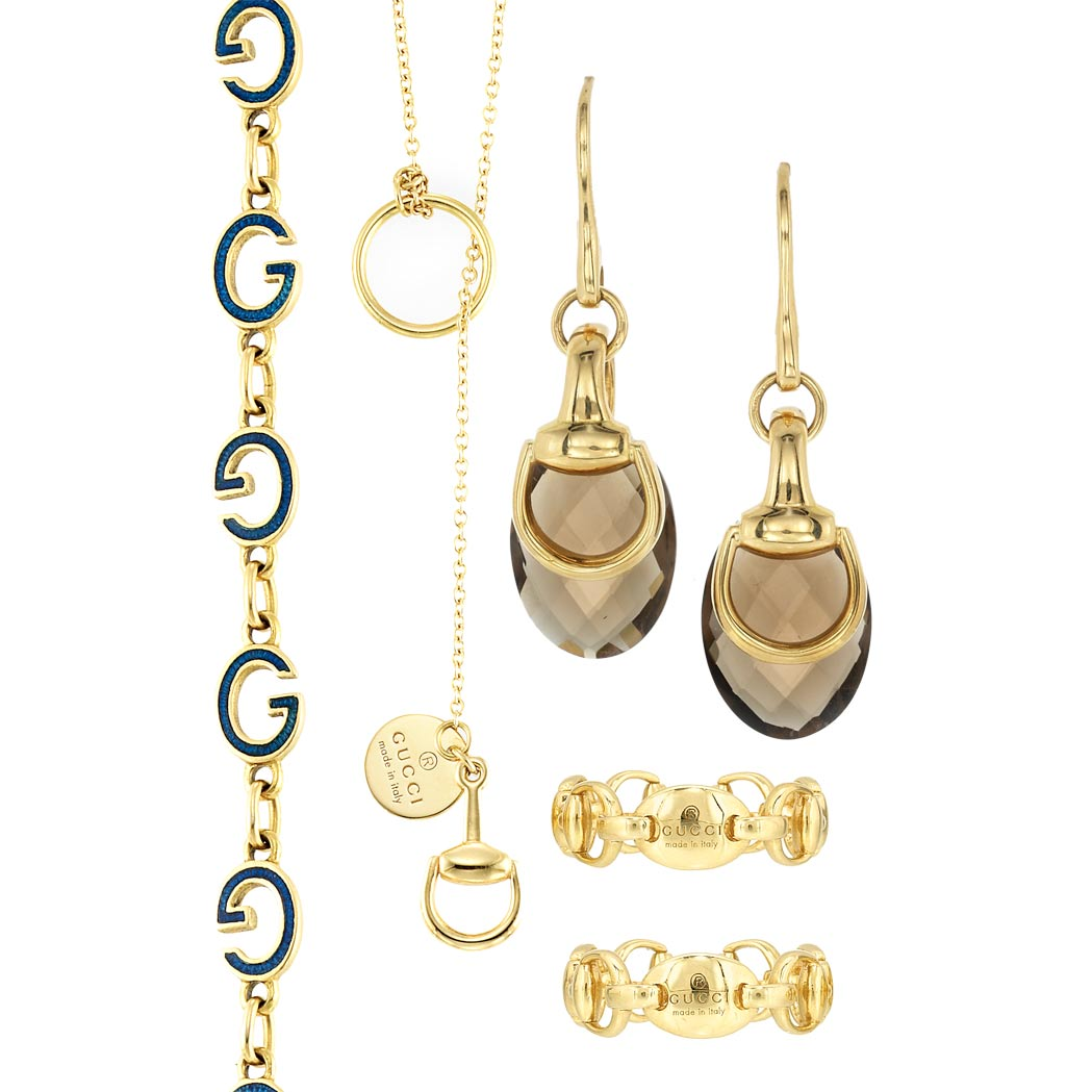 Lot image - Group of Gold Jewelry, Gucci
