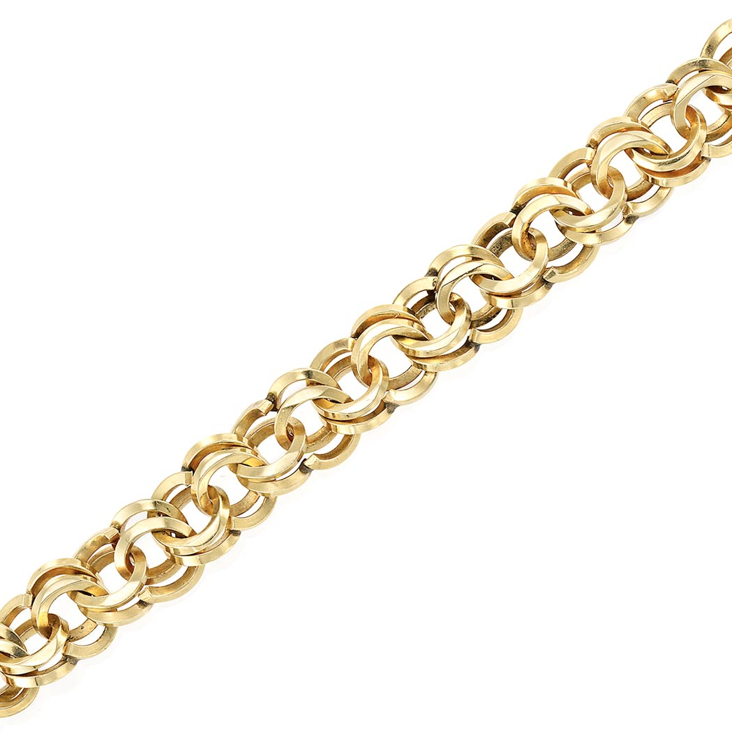 Lot image - Gold Interlocking Link Bracelet