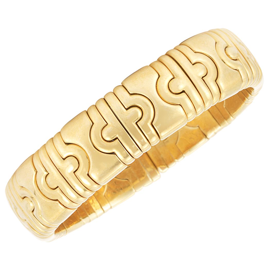 Lot image - Gold Parentesi Bangle Bracelet, Bulgari