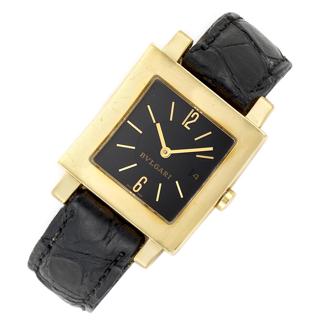 Lot image - Gold Wristwatch, Bulgari