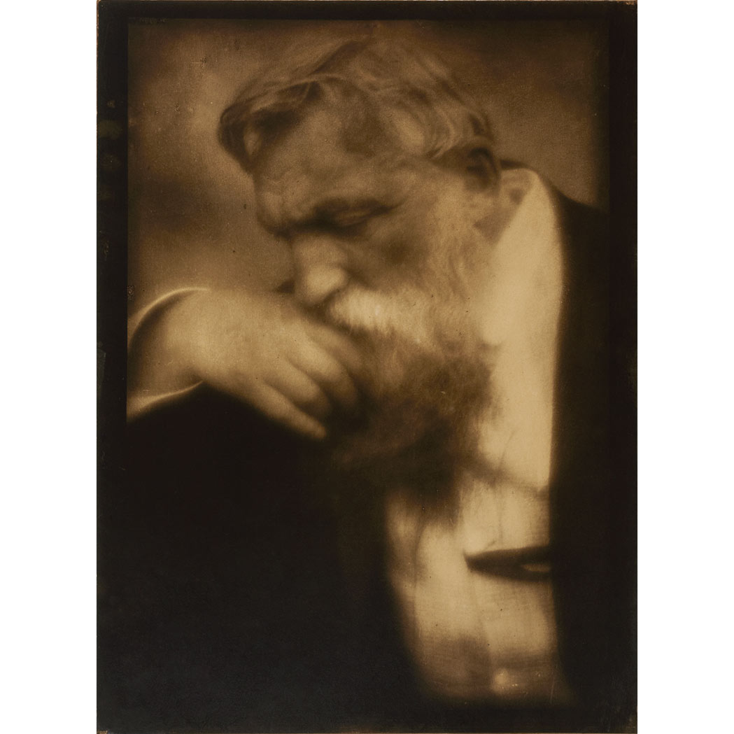 Lot image - STEICHEN, EDWARD (1879-1973)  Portrait of Auguste Rodin
