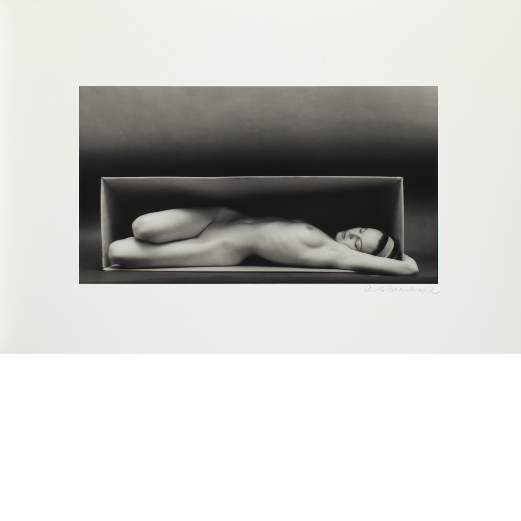 Lot image - BERNHARD, RUTH (1905-2006) In the Box--Horizontal, 1962. Toned gelatin silver print, 10 1/2 x 19 1/8 inches (265 x 485 mm),...