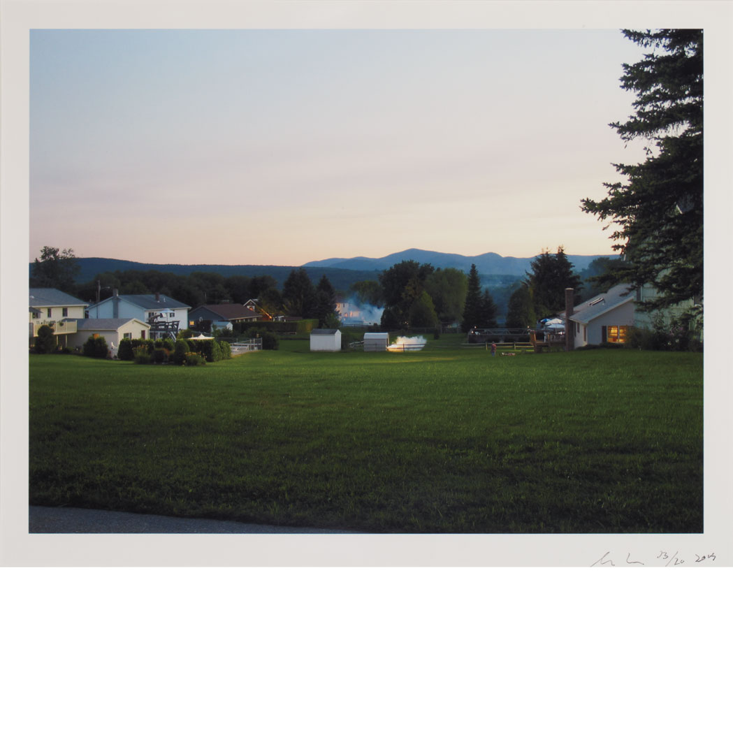 Lot image - CREWDSON, GREGORY (b. 1962) [Production Still (Brightview #2)]. Digital C-print, 11 7/8 x 15 5/8 inches (301 x 397 mm), sign...