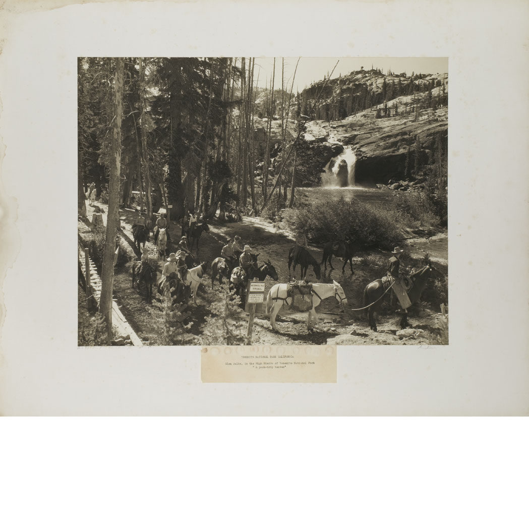 Lot image - ADAMS, ANSEL (1902-1984)  Pack Trip-Glen Aulin-Tuolomne Canyon-Yosemite National Park