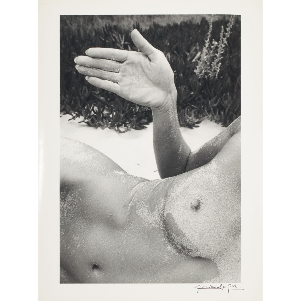 Lot image - CLERGUE, LUCIEN  Twinka at Pebble Beach, 1975