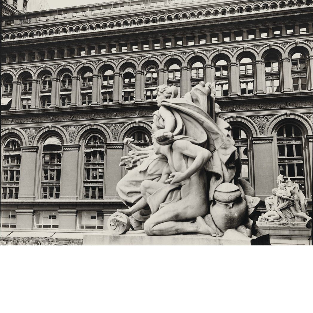 Lot image - ABBOTT, BERENICE (1898-1991)  Customs House Statues...Produce Exchange Building, 2 Broadway, Manhattan, 1936