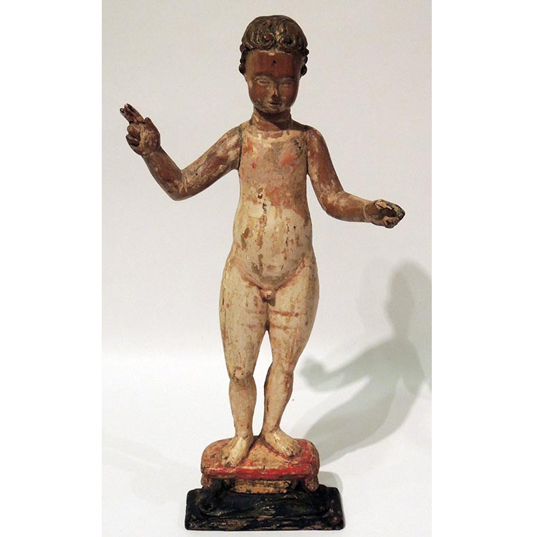 Lot image - Continental Polychrome Figure of an Infant