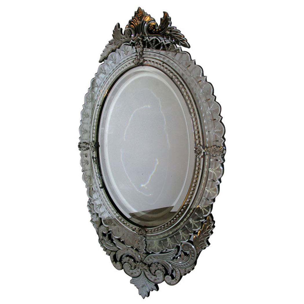 Lot image - Venetian Style Mirror Framed Mirror