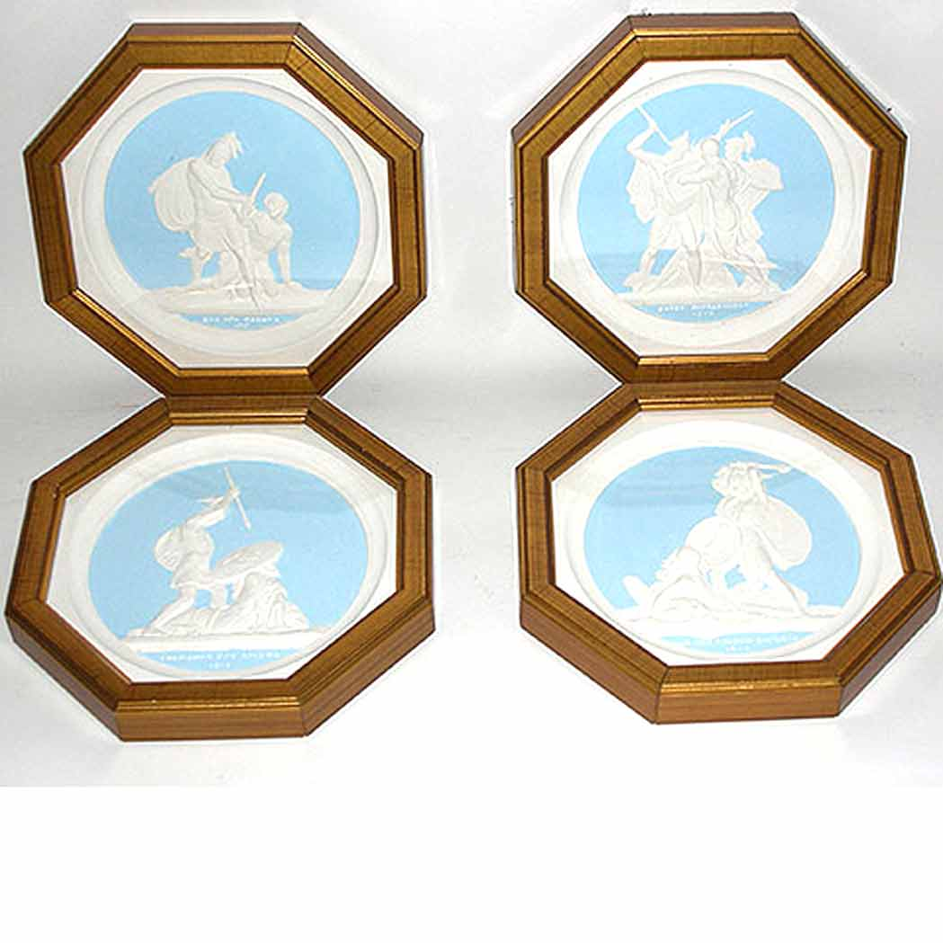 Lot image - Set of Four Russian Plaster Medallions