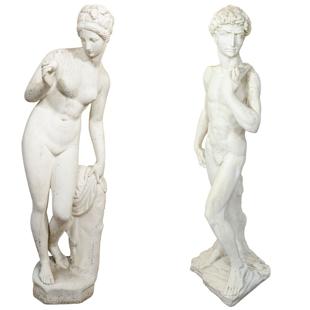 Lot image - Pair of English Garden Statues