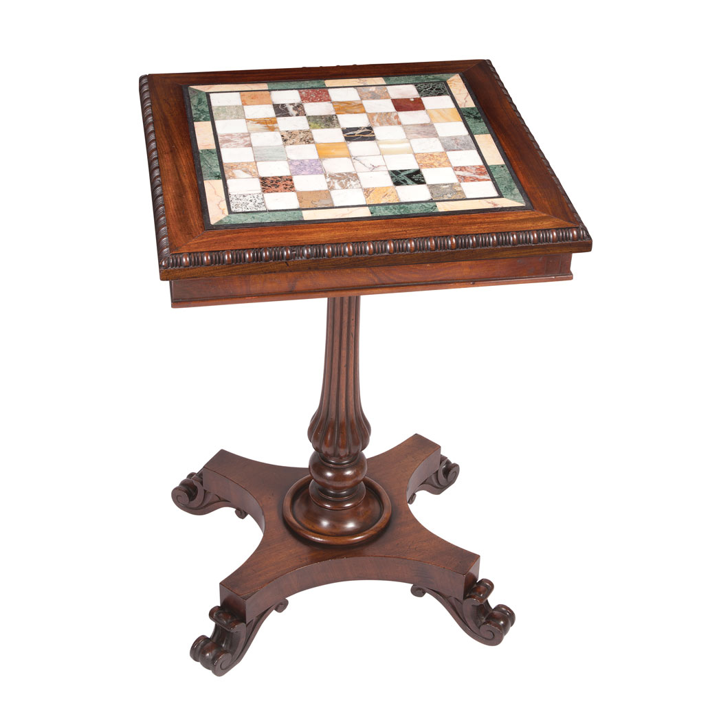 Lot image - William IV Specimen Marble Top Mahogany Side Table