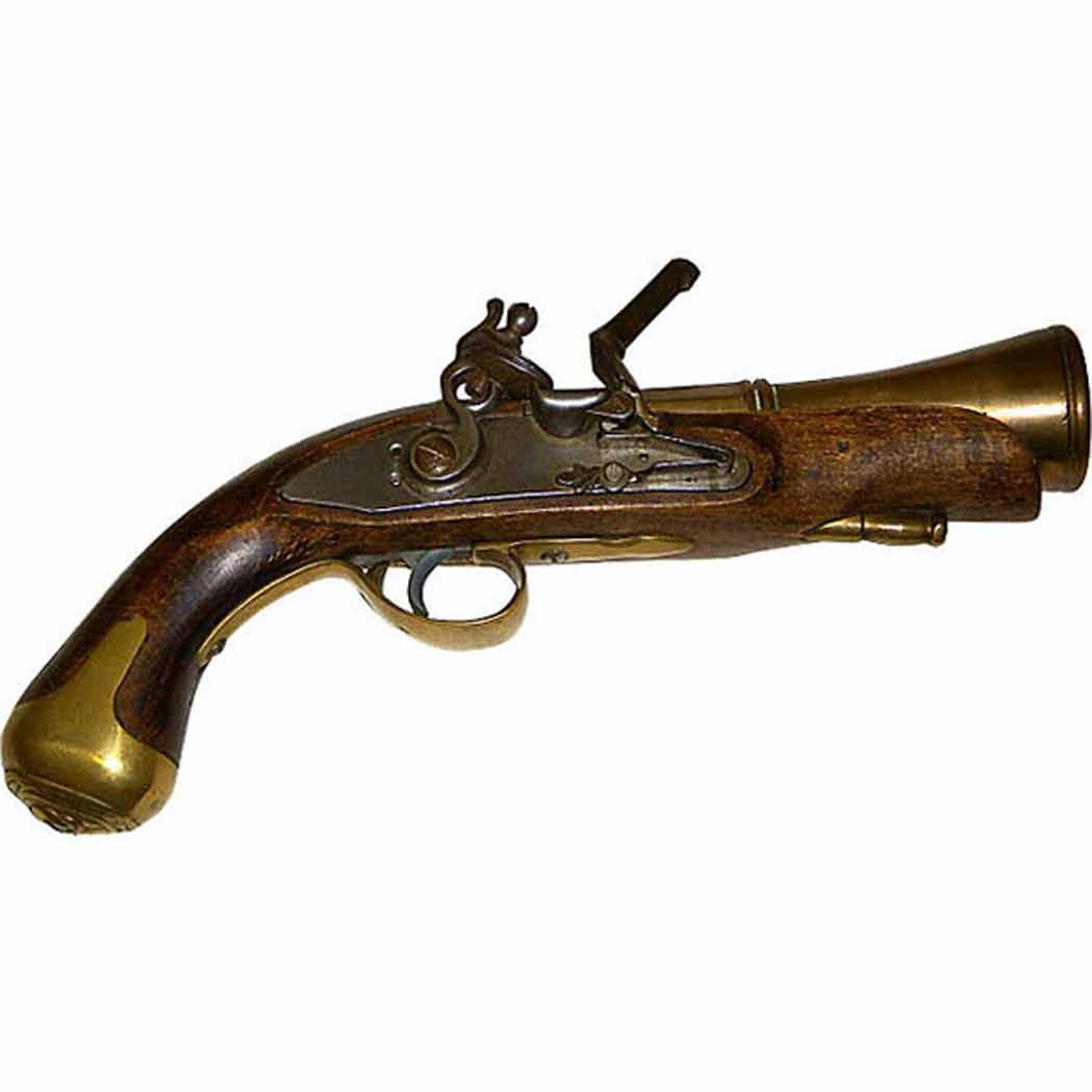 Lot image - Vintage Wood Iron and Brass Replica of an 18th/19th Century Pistol