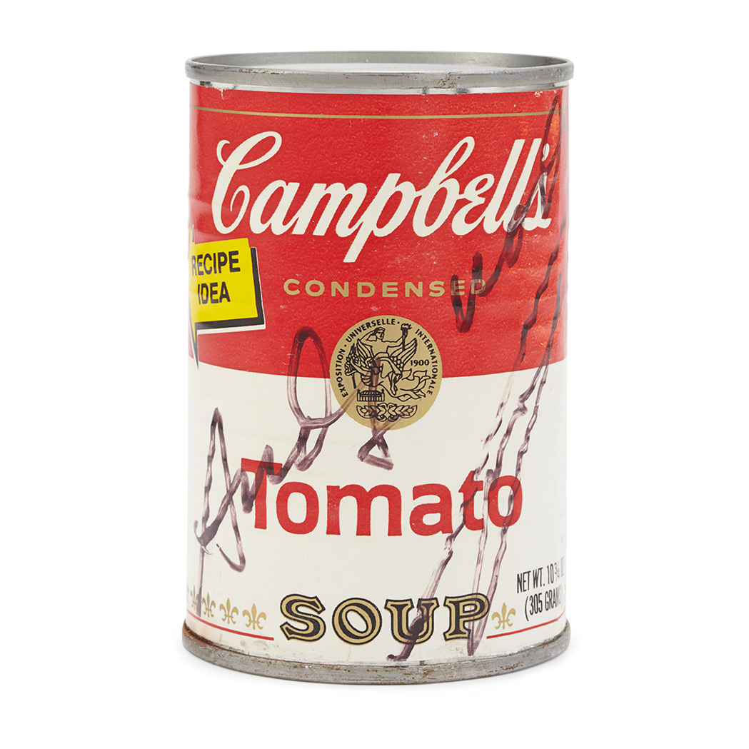 Andy Warhol CAMPBELLS SOUP CAN Signed In Ink For Sale At