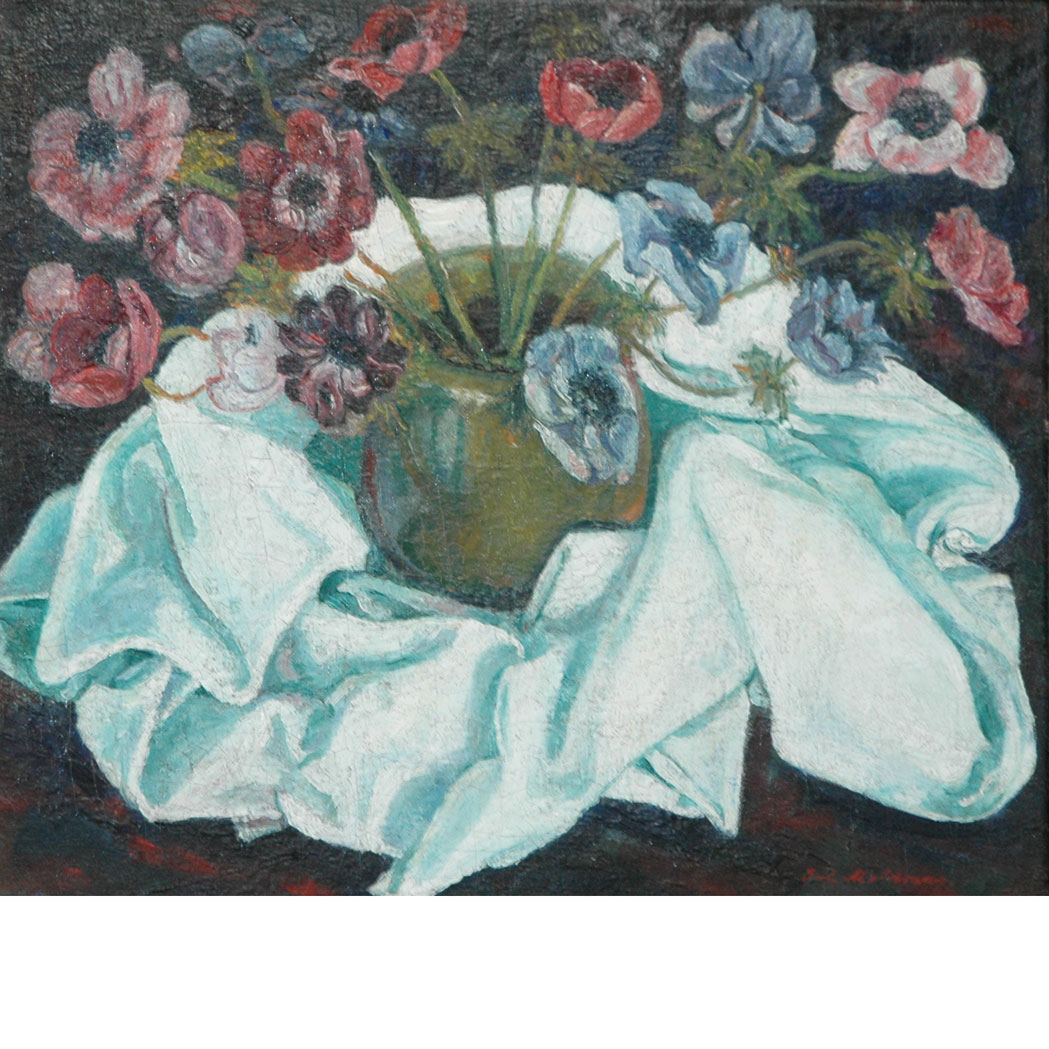 Lot image - Sacha Moldovan Russian/American, 1901-1982 Still Life of Poppies in a Vase
