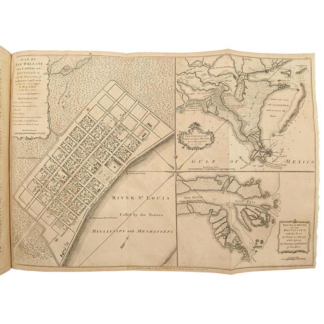 Lot image - [ATLAS]  JEFFERYS, THOMAS. The Natural and Civil History of the French Dominions in North and South America