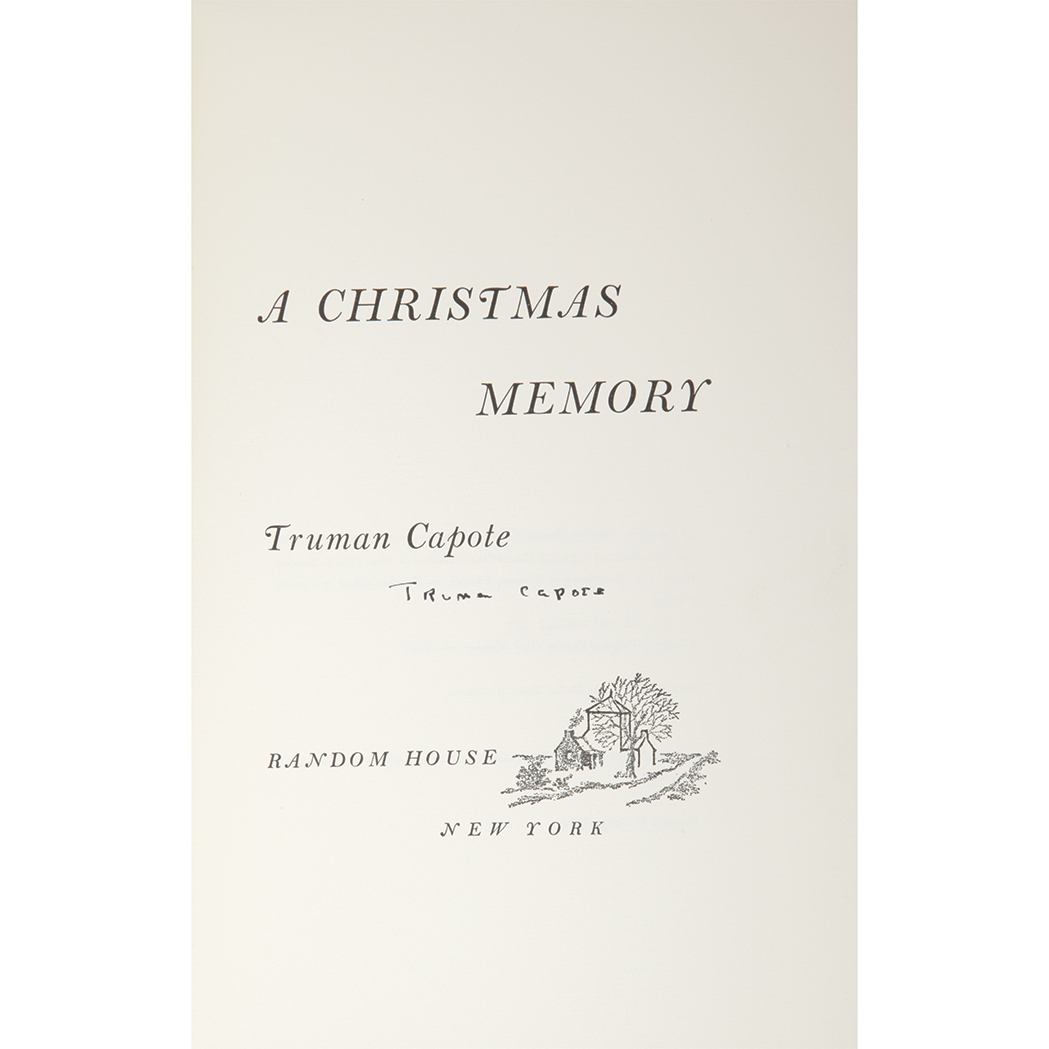 CAPOTE, TRUMAN A Christmas Memory for Sale at Auction on Mon, 11/24 ...