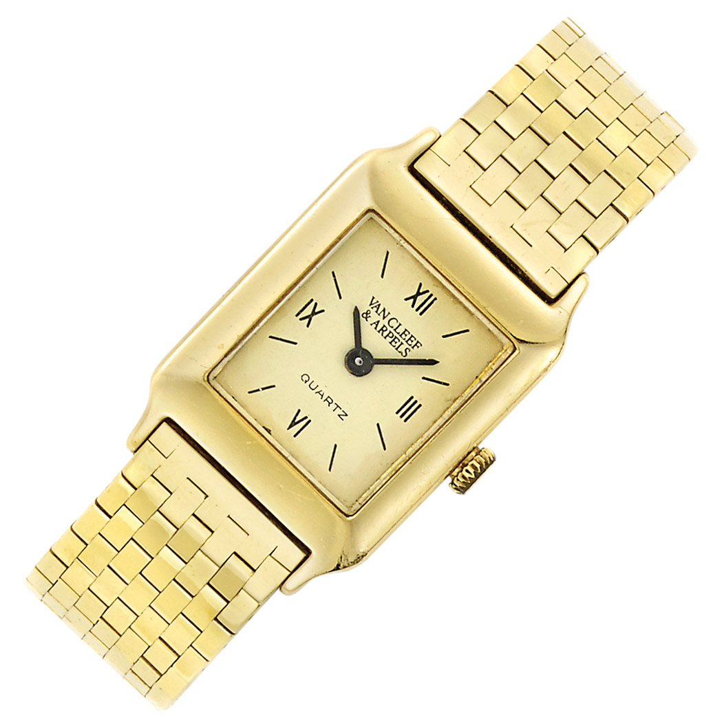 Lot image - Lady's Gold Wristwatch, Van Cleef & Arpels, France
