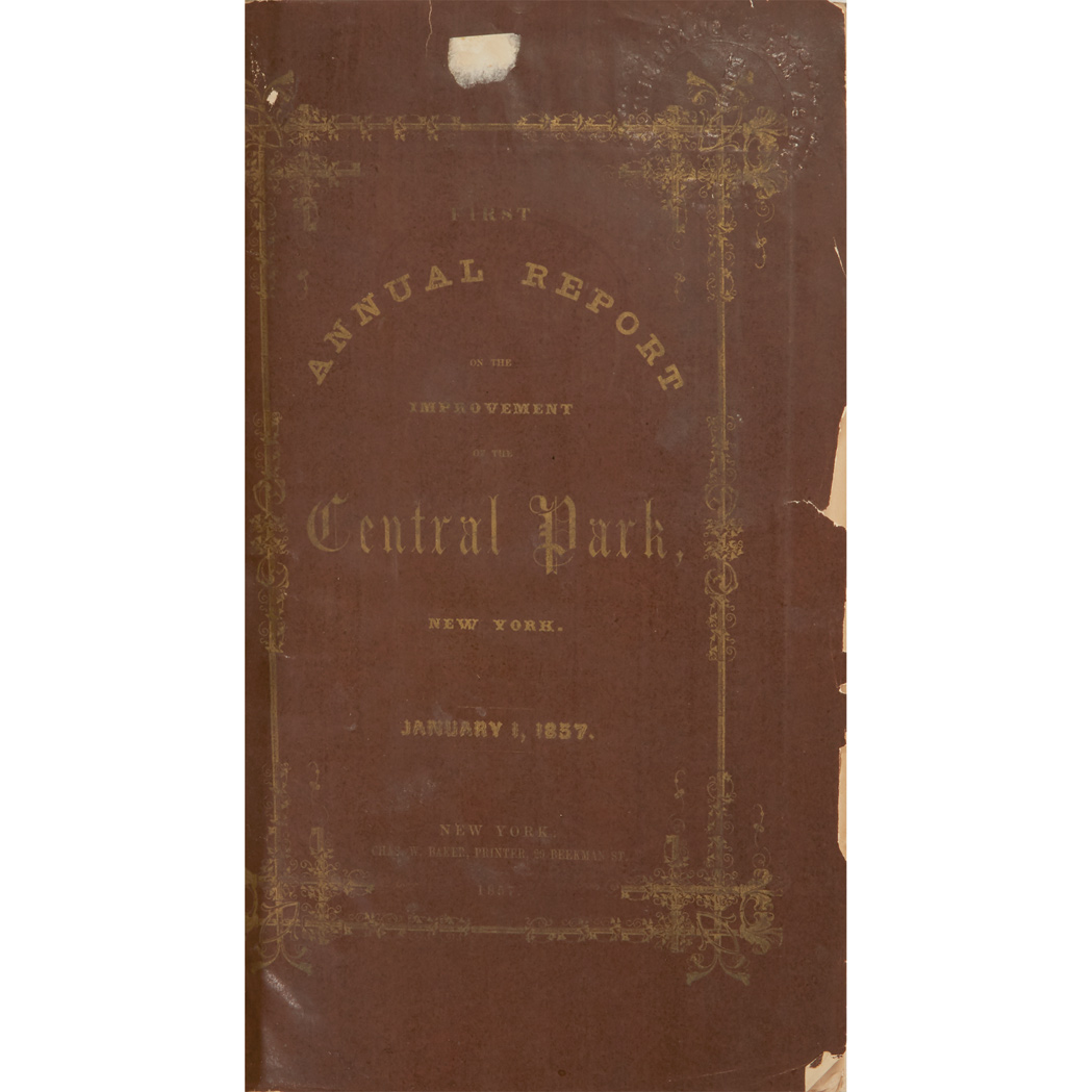 Lot image - [NEW YORK - CENTRAL PARK]  Group of Central Park Reports, 1857-1870