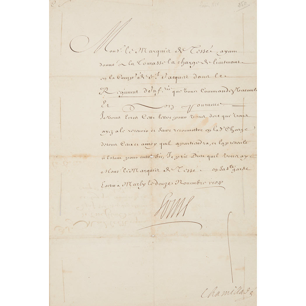 louis xiv document signed for sale at auction on mon 11. Black Bedroom Furniture Sets. Home Design Ideas