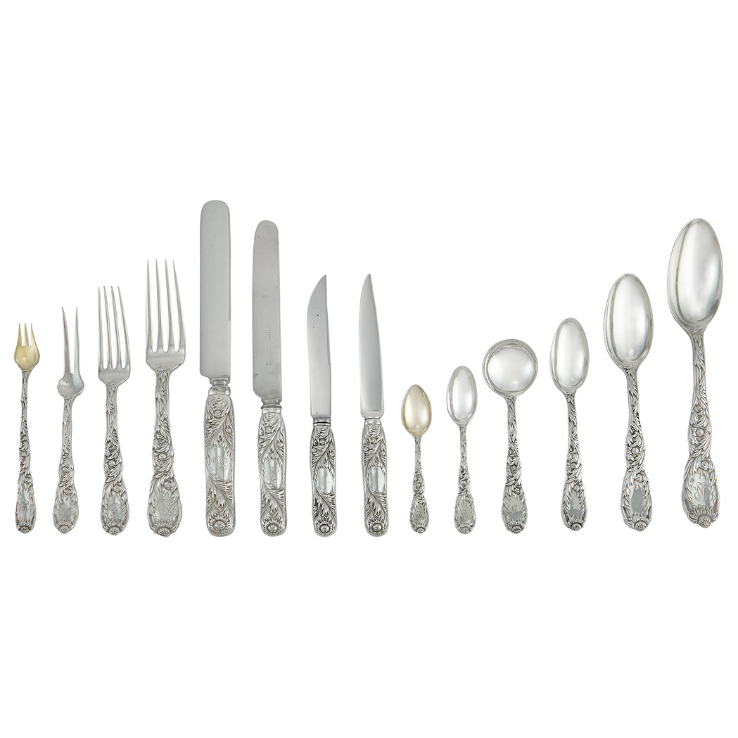 Lot image - Assembled Tiffany & Co. Sterling Silver Partial Flatware Service