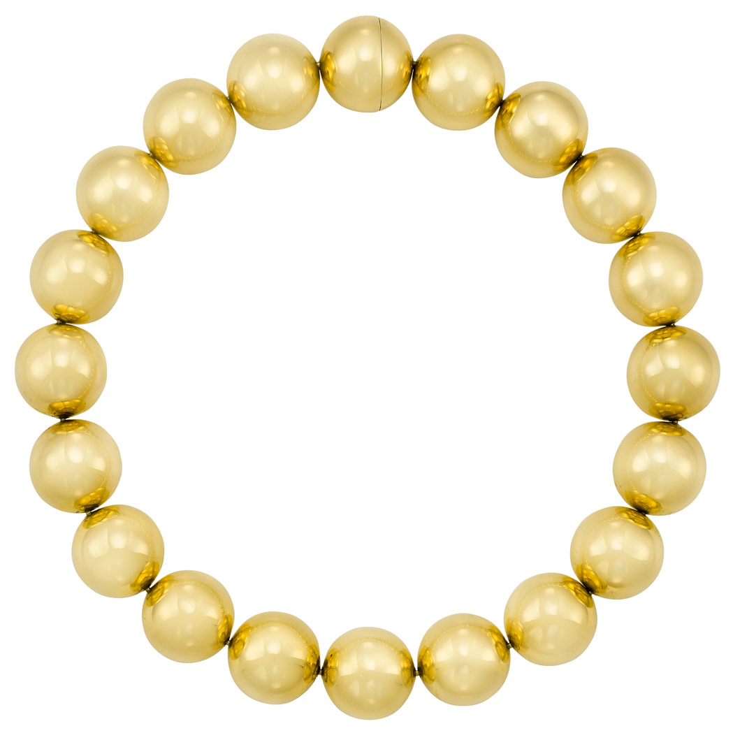 Lot image - Gold Bead Necklace
