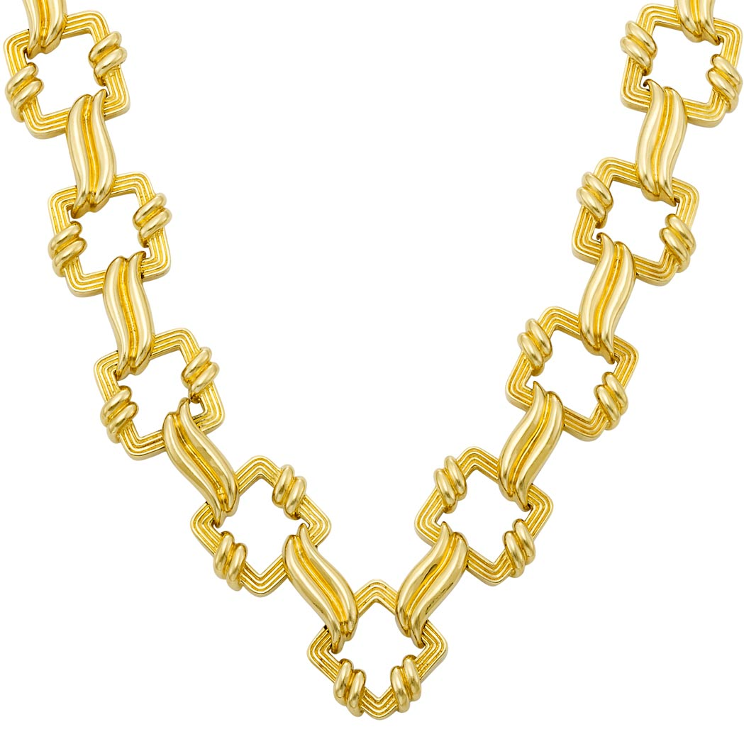 Lot image - Long Gold Necklace, Tiffany & Co.