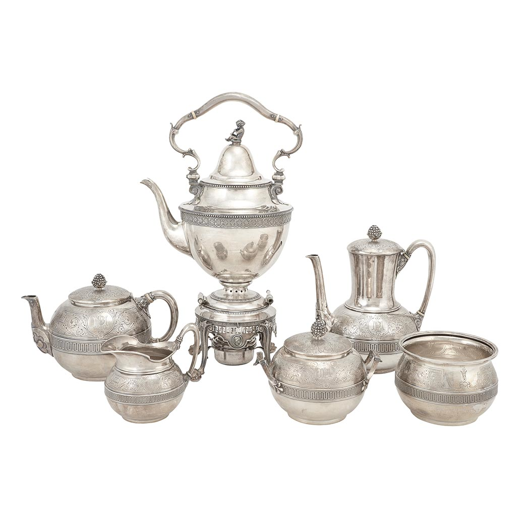 Lot image - Tiffany & Co. Sterling Silver Tea and Coffee Service