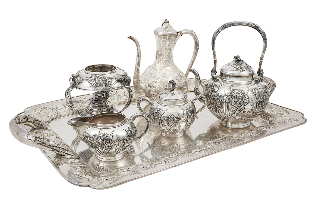 Lot image - Japanese Silver Tea and Coffee Service
