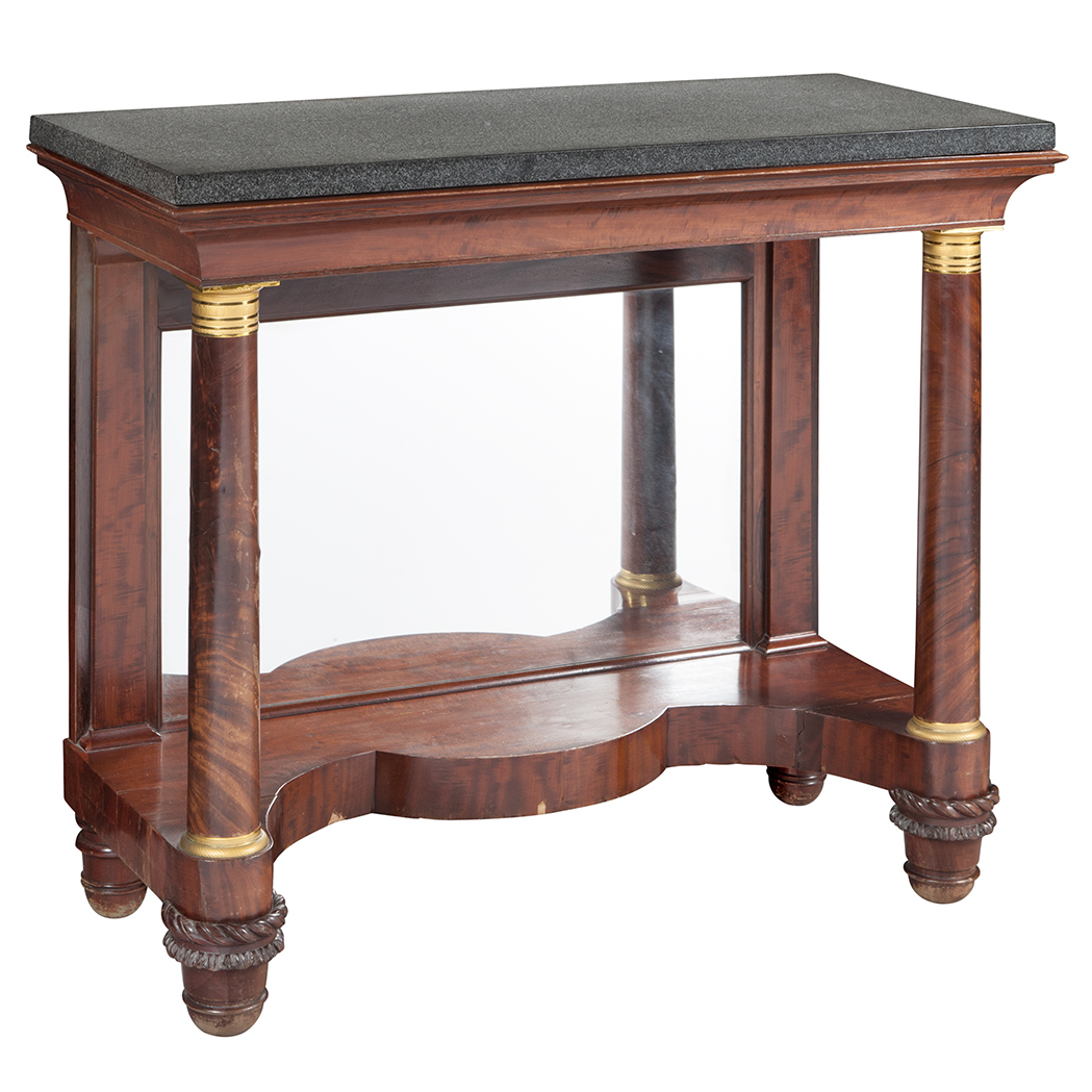 Lot image - Classical Gilt Bronze Mounted Mahogany Pier Table