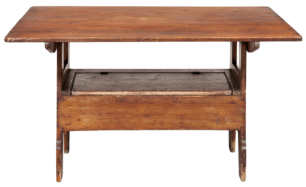 Lot image - American Pine Hutch Table