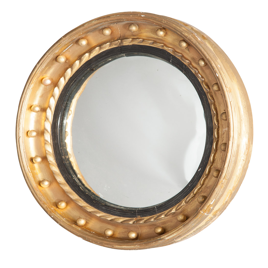 Lot image - Classical Giltwood Convex Mirror