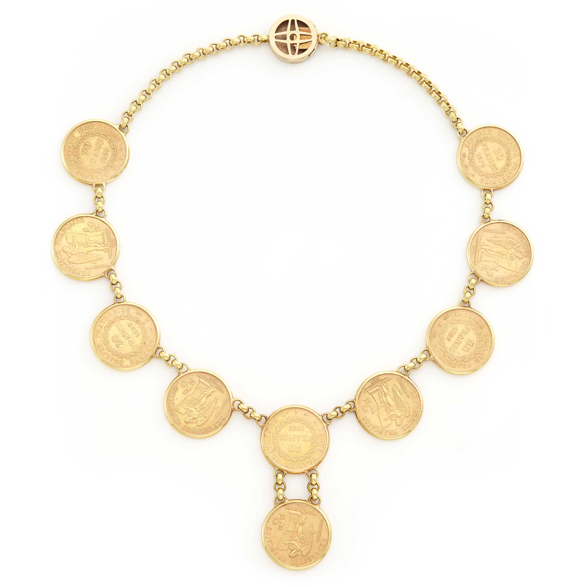 Lot image - Gold Coin Necklace