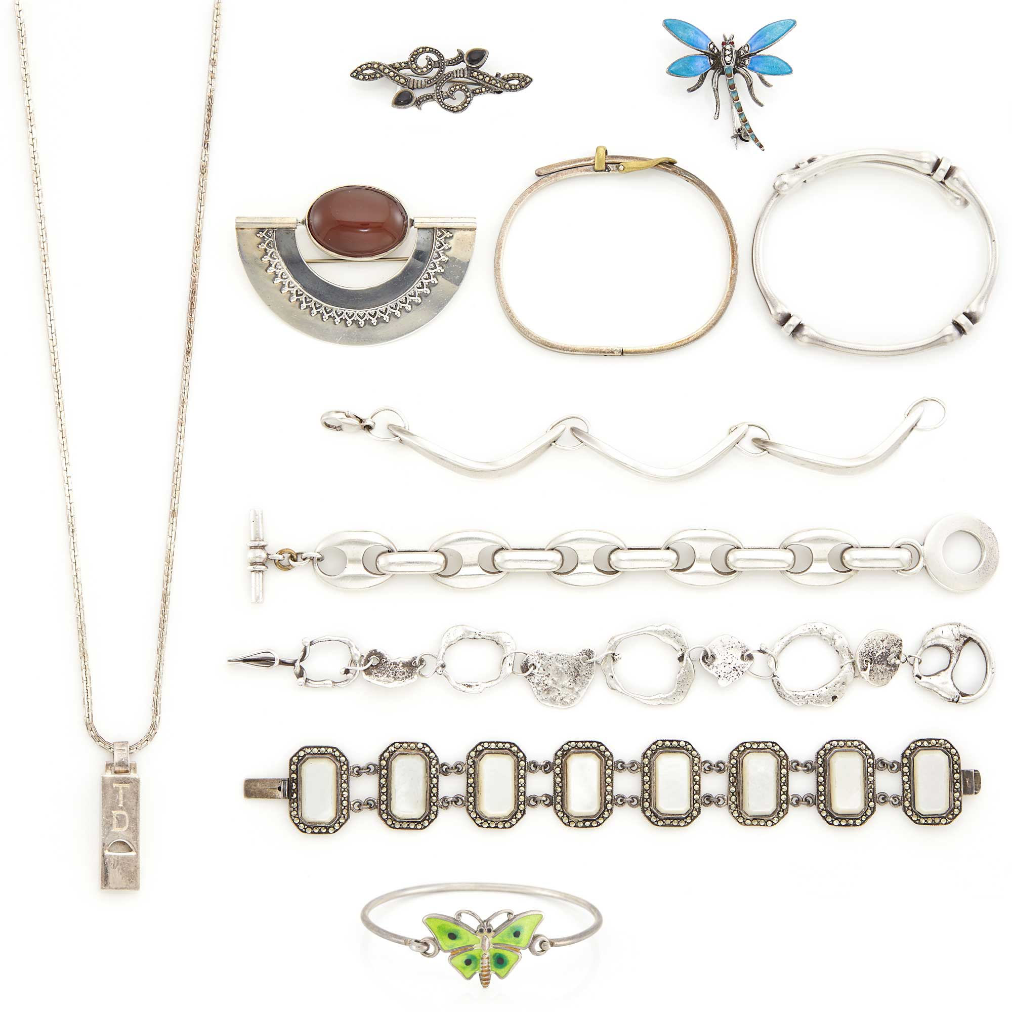 Lot image - Group of Silver Jewelry