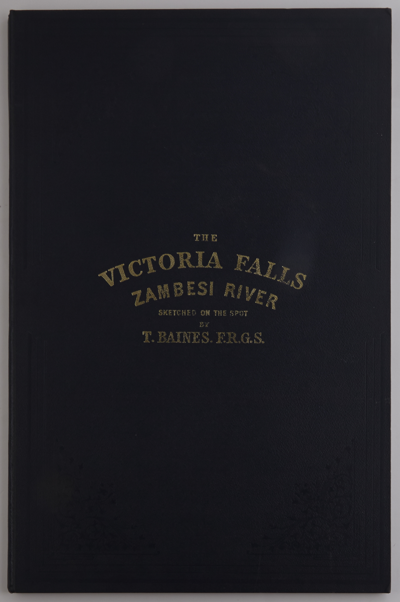 Lot image - BAINES, THOMAS  The Victoria Falls Zambesi River. Sketched on the Spot by T. Baines. F.R.G.S.