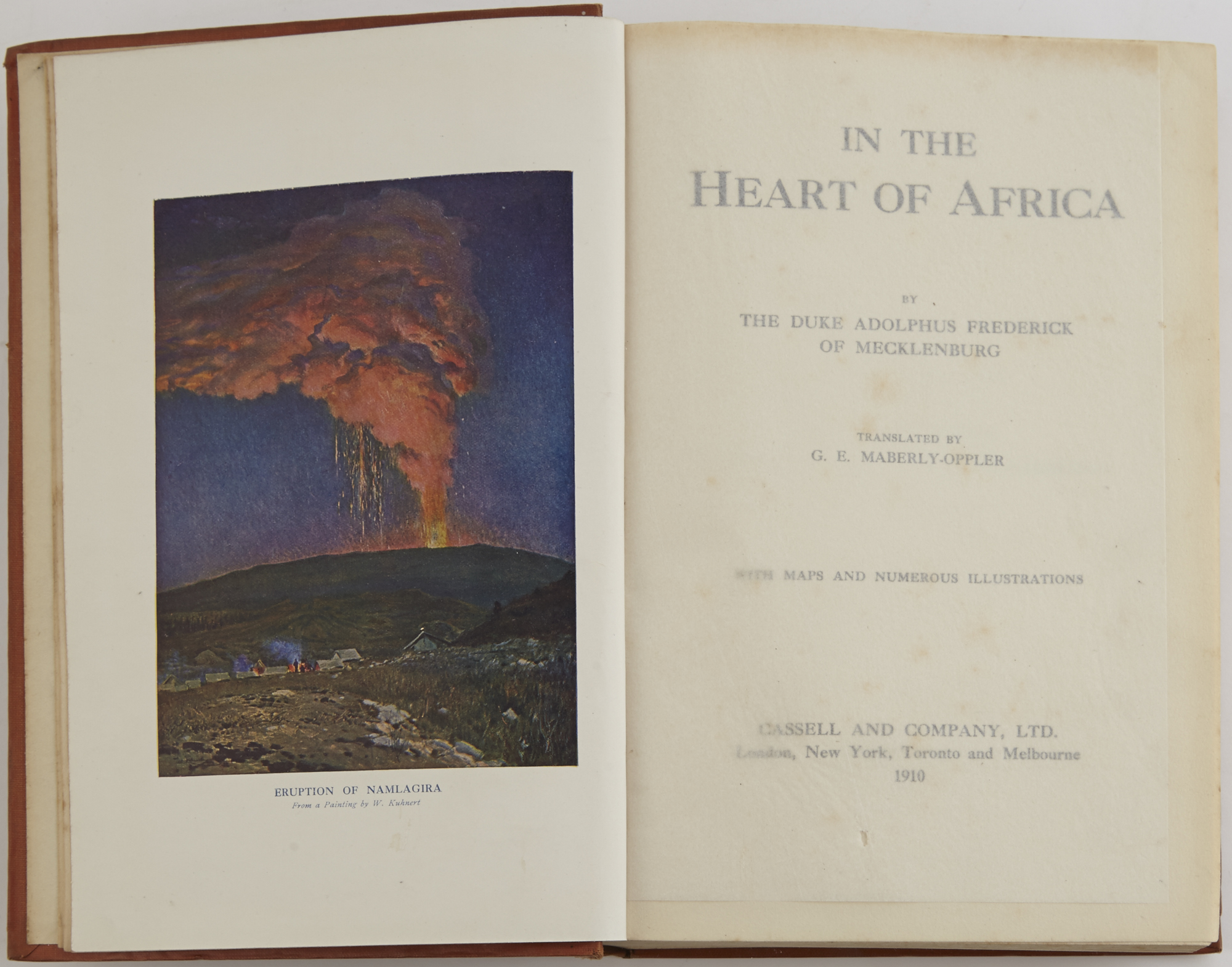 Lot image - ADOLPHUS FREDERICK OF MECKLENBURG, Duke  In the Heart of Africa.