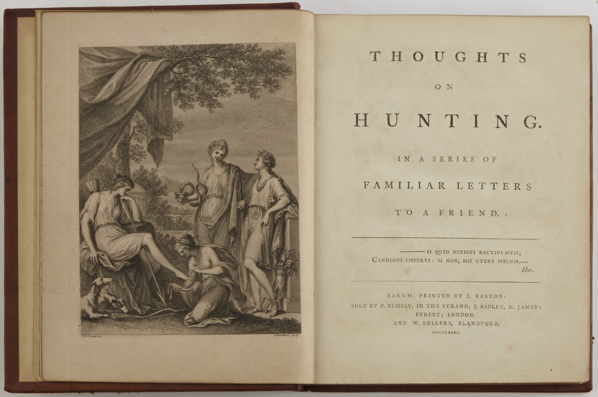 Lot image - [BECKFORD, PETER]  Thoughts on Hunting. In a series of familiar letters to a Friend.